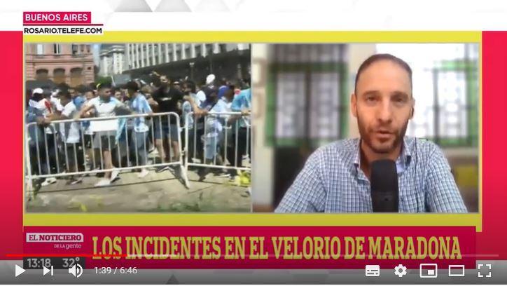Adiós a Diego: dolor, decontrol y violencia