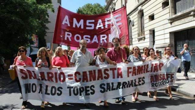 """Amsafé Rosario pide """"un piso de 25%"""" de aumento en la paritaria"""