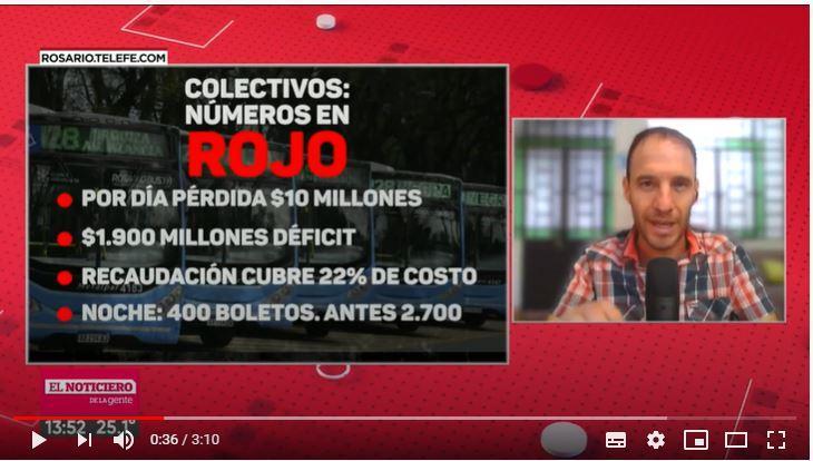 Colectivos: números en rojo en el sistema urbano de Rosario