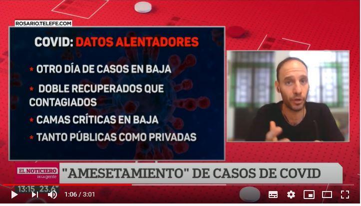 Covid en Rosario: datos alentadores que generan optimismo