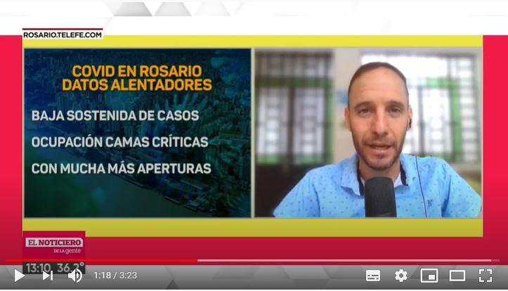 Covid en Rosario: proyectan menos de 100 casos diarios para fin de año