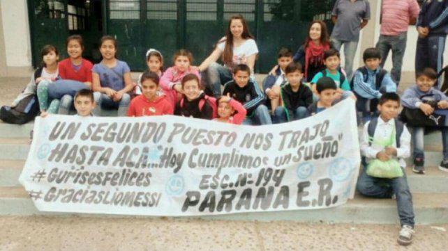 Emotivo relato de la maestra que le escribió a Messi y llevó a sus alumnos a verlo