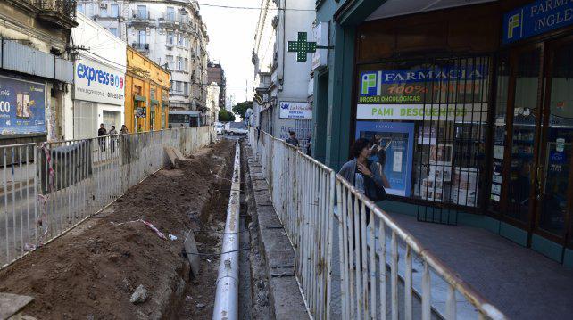 Estiman que recién en abril terminarán la reforma de calle Sarmiento