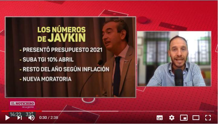 Los números de Javkin: tasa, deuda, gasto social y moratoria para 2021