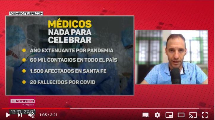 Médicos, en su día: nada para festejar tras un año extenuante