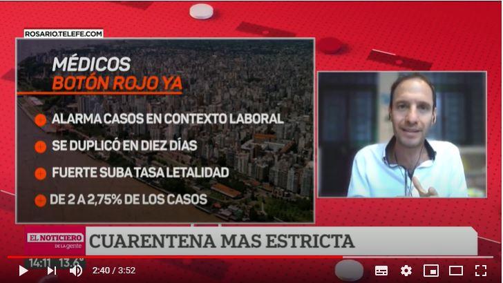 Médicos piden botón rojo ya en Rosario y duras restricciones anti pandemia