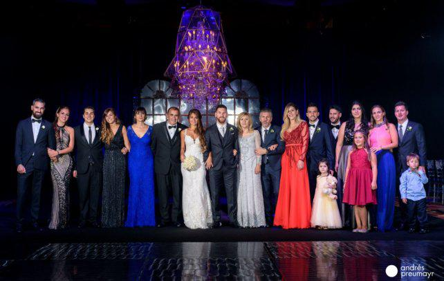 Quiénes fueron los más divertidos y los más elegantes de la boda de Messi