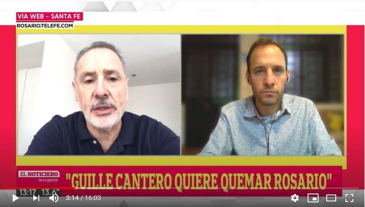 """Saín: """"Guille Cantero quiere quemar Rosario"""""""