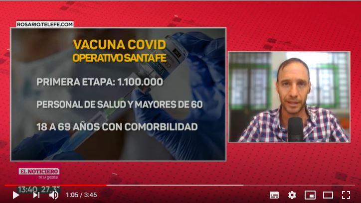 Vacuna covid: cómo será el operativo para vacunar a un millón de santafesinos